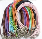 Внешний вид - Wholesale 5/20/160pcs Color Manually Braided Leather Necklace Cord 46cm DIY