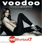 Voodoo Sexy Womens Luscious Leggings Footless Black Low Waist Size Ave Tall X