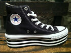 "Converse Chuck Taylor All Star Platform ""Layer Bottom"" Black Women HI Shoes NIB"