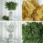 144 Leaves Leather Fern Greenery Branches - 12 bushes for Wedding Decorations