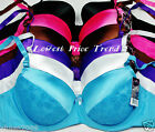 Lot 1 Bra or 6 Bras, 34C 36C 38C 40C BR9547PL W/ LACE DEMI CUP UNDERWIRE NEW