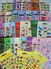 FOIL/GLITTER/PUFFY/PADDED/CRAFT Fun STICKERS - Large Range {fixed £1 UK p&p}