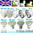 4/12x 60SMD GU10 4/6W Day/Warm White LED Light Bulbs/Downlight/Ceiling Light=50W