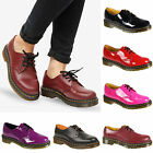 WOMENS DR MARTENS 1461 PATENT LEATHER LACE UP BLACK RED PINK GOTH SHOES SIZE