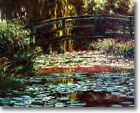 HUGE Monet Water Lily Garden Bridge,1900 Stretched Canvas Giclee Repro ALL SIZES