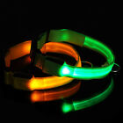 6 Colors LED Flashing Lighting Up Safety Pet Dog Nylon Flat Collar Keychain Tags