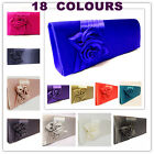 BLACK IVORY SILVER NAVY PINK RED BEIGE TEAL BLUE CLUTCH EVENING HANDBAG 8COLOURS
