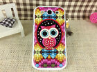 Colorful Owl Hard Plastic Back Cover Shell Case For Samsung Galaxy S3 i9300 S 3
