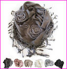 Winter Ladies Scarf Wool like Knitted Women Neck Wrap Shawl Tassel Scarves Soft
