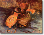 HUGE Van Gogh A Pair of Shoes  Stretched Canvas Giclee Art Repro ALL SIZES