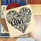 Brand New Rubber Mounted Stamps Letter Love Stamp Greeting Craft Card Making