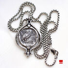 It spins! Small Sterling Silver Tetradrachm Owl Coin Necklace