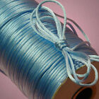 Satin Rattail Cord 2 mm 10 yards 25 yds 50 yds  multiple color choice jewelry m