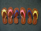Ladies Lovely Toe Post Sandals by Savannah Cerise Yellow Blue 3/4/5/6/7/8 New