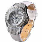 Fashion High Quantity Classic Crystal Bling Girl Lady Leather Sport Wrist Watch