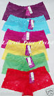 6 LACE BOYSHORTS PANTIES #649P6 LOT NEW SIZE S/5 M/6 L/7 XL/8