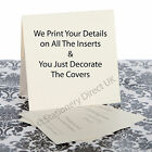 50 Personalised Pocketfold Wedding Invitations -We Print Your Details on Inserts