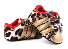 Baby Boy Girl Gold Leopard Soft Sole Crib Shoes Sneakers Newborn to 18 Months