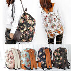 New Design Floral Girls' Canvas Cackpack Schoolbag Travelling Shoulder  Bag
