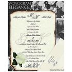 qty 50 Monogram Style A Scroll Wedding Party Invitations Invites