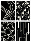 """MODERN ivory BLACK 5x8 GEOMETRIC abstract AREA Rugs CONTRAST 5'3"""" x 7'5"""" carpets"""