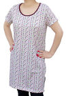 Starlite Womens/Ladies Nightwear-Long Length Short Sleeeve Polka Dot White Top