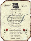 qty 50 Train Locomotive Birthday Scroll Wedding Party Invitations Invites