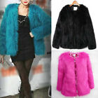 New Trendy Candy Womens Faux Fur Vintage Warm Coat Casual Party Jacket Coat Tops