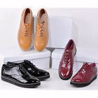 US5-9 Fashion Leather like Vintage Lace Up Brogue Shoes womens round toe shoes