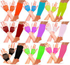 NEON LEGWARMERS SHORT FISHNET GLOVES SET FANCY DRESS HEN PARTY 80'S DISCO TUTU