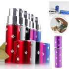 Mini 5ml Travel Refillable Perfume Atomizer Bottle For Spray Scent Case Empty US
