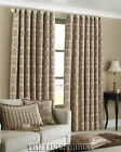 NATURAL BEIGE 90 x 90 THICK HEAVY WEIGHT EYELET CHENILLE PERIOD STYLE CURTAINS