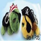 RUSS BERRIE LIL PEEPERS TURTLE PIRATES BACK PACK CLIPS TOY  NEW GIFT