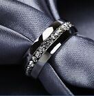 Gold Silver Alloy Crystal band Ring Rings Engagement Wedding gift