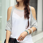 Korean Womens Sexy Off Shoulder Batwing Sleeve Loose T-Shirt Tops Blouse S M new