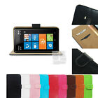 F Leather PU Flip Hard Wallet Skin Case Cover Pouch w Card Slot Nokia Lumia 900