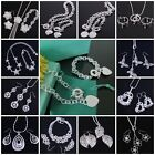 2013 New Wholesale 925Silver Jewelry SET Lady/mens Silver Earrings/Necklace+box