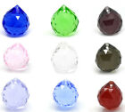 5 Crystal Glass Faceted Teardrop Pendants 24x22mm M0072