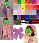 Women Fashion Warm Infinity 2Circle Cable Knit Cowl Neck Scarf Shawl 42Color New
