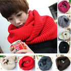Women Winter Knitted Long Circle Wool Blend Cowl Snood Tube Scarf Shawl Warmer