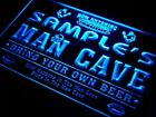 qa-tm Name Personalized Custom Man Cave Football Bar Beer Neon Sign