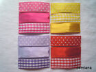 Jemlana's handmade snap clips (set of 3) for girls Pink, Yellow, Purple, Red