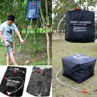 20/40L Litre SOLAR Camping Shower Outdoor Hiking Portable Water Heated Camp Bags