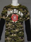 Jim Beam Longsleeve Mens Size Camo Tee Shirt New Logo Bourbon Whiskey Camouflage