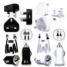 MiCRO USB MAiNS TRAVEL CAR CHARGER ADAPTOR DATA CABLE FOR BLU VARIOUS PHONES