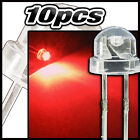 454/10# LED grand angle rouge 10pcs  - straw hat LED 4,8mm  red - rot - rojo