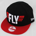 New Era 9fifty Slogan Fly Black Red Snapback Flat Peak Hat Cap