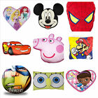 12 KIDS CARTOON CHARACTERS TO CHOOSE SOFT PLUSH SHAPED CUSHIONS NEW OFFICIAL