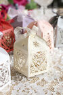 6 Colors Laser Cut Wedding Party Favor Gift Candy Boxes Baby Shower w/ Ribbon