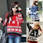 Pullover Christmas Women Geometry Deer Long Sleeve Knitted Winter sweater N98B